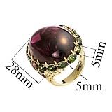 Золотое кольцо с турмалином Турмалиновое чудо
