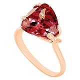 Золотое кольцо Сандра с гранатом