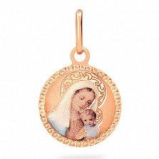 Ладанка из золота Дева Мария и Иисус