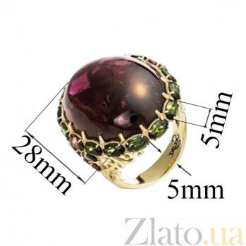 Золотое кольцо с турмалином Турмалиновое чудо SG--16979100