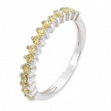Серебряное кольцо с желтым цирконием Моя леди