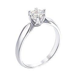 Серебряное кольцо с фианитом 000134482