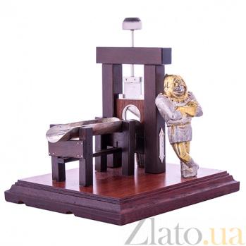 Серебряная авторская композиция Палач, гильотина для сигар 000053207