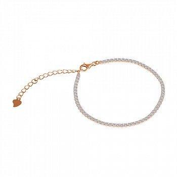 Серебряный браслет с позолотой и фианитами 000088733