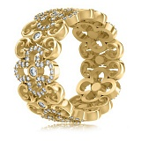 Кольцо из желтого золота с бриллиантами Долина грез: Праздник Жизни
