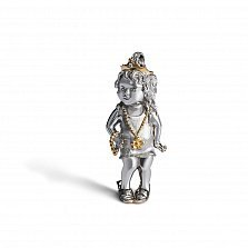 Серебряный кулон Малышка Модница с бриллиантом