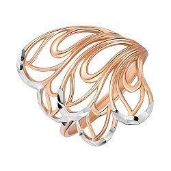 Золотое кольцо в комбинированном цвете 000141510