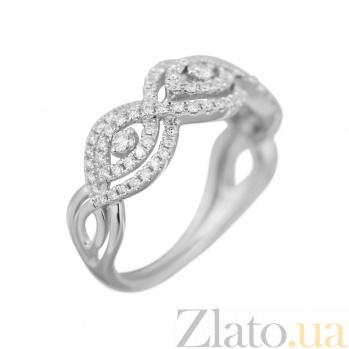 Кольцо из белого золота Царевна с бриллиантами 000080996