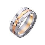 Золотое обручальное кольцо Шерил