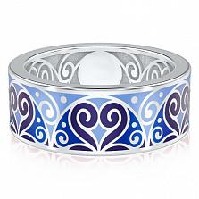 Мужское обручальное кольцо из белого золота Талисман: Любви