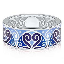 Мужское обручальное кольцо из белого золота Талисман: Любви 000009246