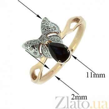 Золотое кольцо с бриллиантами и сапфиром Бонна ZMX--RDS-5539_K