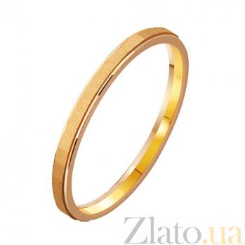 Золотое обручальное кольцо Con amore TRF--411935