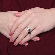 Серебряное кольцо Застежка-молния
