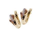 Золотые серьги с бриллиантами Каллы