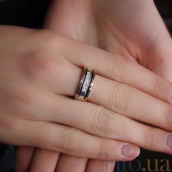 Кольцо из серебра Мадонна з золотыми вставками и фианитами BGS--706к