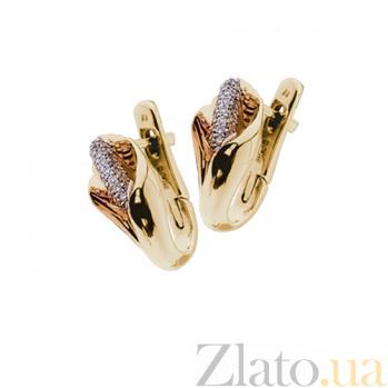 Золотые серьги с бриллиантами Каллы KBL--С2240