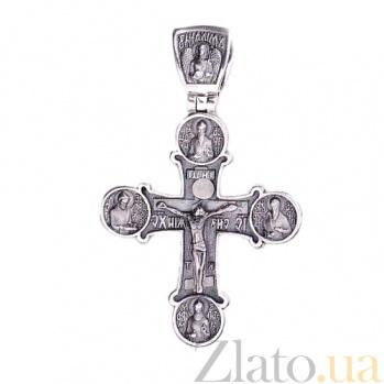Серебряный крест Небесный покровитель ONX--131555