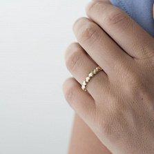 Кольцо из желтого золота Сердцеедка