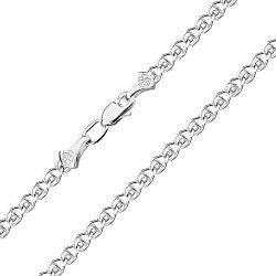 Серебряный браслет в плетении лав 000118114