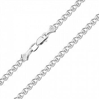 Серебряный браслет в плетении лав 2,5мм 000118114