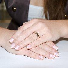 Золотое обручальное кольцо Милость с фианитами