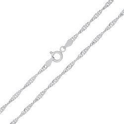 Серебряная цепь Фламенко с родированием, 2,5 мм