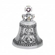 Колокольчик Покров Пресвятой Богородицы из бронзы с фианитами