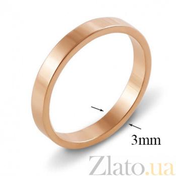 Золотое обручальное кольцо Американский стиль 000000305