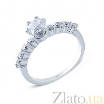 Серебряное кольцо с цирконами Предложение AQA--TR-3047_akv