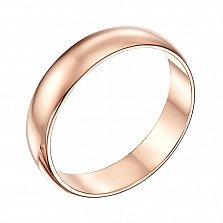 Обручальное кольцо из красного золота Любовь и верность, 4мм