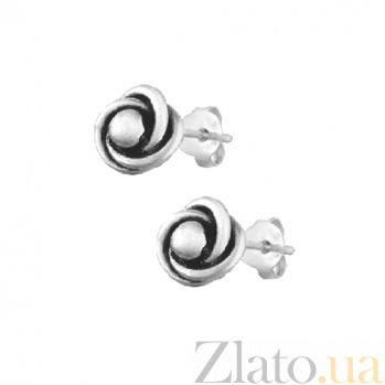Серебряные серьги-гвоздики Вихрь SLX--С5/052