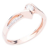 Золотое кольцо с бриллиантами Грани любви