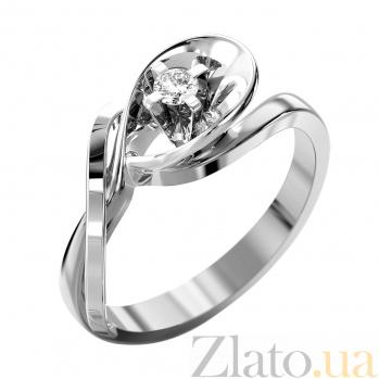 Кольцо из белого золота Вирджини с бриллиантом VLA--14779
