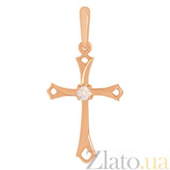 Крестик из золота с фианитом Надежда VLN--214-447