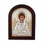 Икона Ангел Хранитель с серебром и позолотой в деревянной рамке 000140105