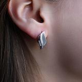 Серебряные серьги с бриллиантами Нежность