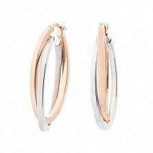 Золотые серьги-кольца Орианна