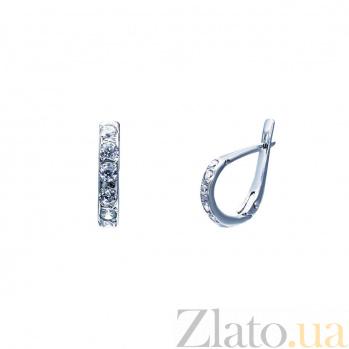 Серебряные серьги с фианитами Дикс 000027200