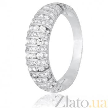 Серебряное кольцо с белыми фианитами Астарта 000028257