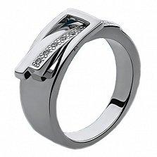 Серебряное кольцо с бриллиантами Амели