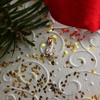 Подвес из красного золота с цирконием Эльфия SVA-3190834101/Фианит/Цирконий
