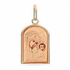 Ладанка из золота Пречистая Богородица