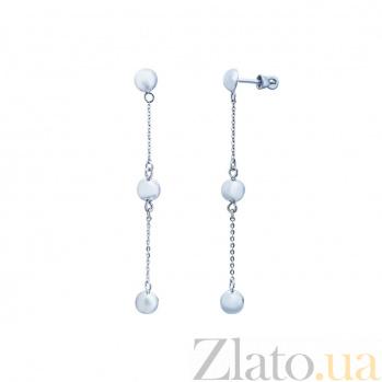 Серебряные серьги Сидния AQA--Тпс-580066