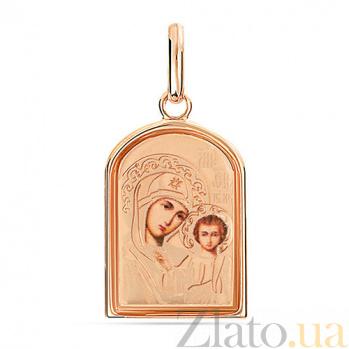 Ладанка из золота Пречистая Богородица SUF--402906рц