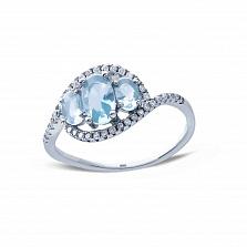 Серебряное кольцо с фианитами Вирджиния
