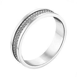 Обручальное кольцо из белого золота 000124379