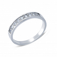 Серебряное кольцо с кубическим цирконием Кристи