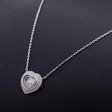 Колье из серебра Танец любви с перламутром