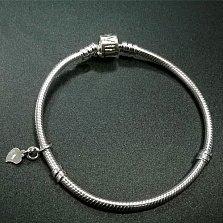 Серебряный браслет для шармов Love